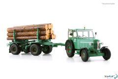 Bührer Industrietraktor FFD6/10 Set mit Anhänger