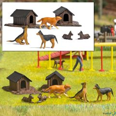 Hunde-Set mit Hütten