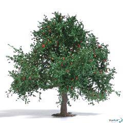 Apfelbaum Sommer mit Äpfeln ca. 75 mm hoch