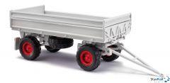 Anhänger IFA HW60 mit Kippgestänge und Niederdruckbereifung Aufsatz grau