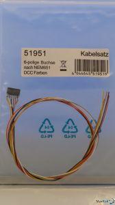 Kabelsatz mit 6-poliger Buchse nach NEM 651