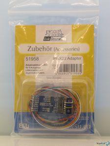 Adapterplatine PluX22 für 9 Ausgänge