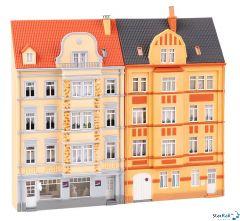 2 Stadt-Reliefhäuser 4-stöckig