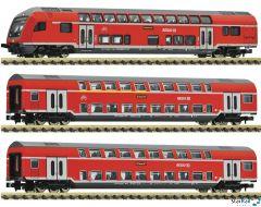 3-teiliges Set: Doppelstockwagen DB AG