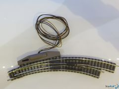 Rechte Bogenweiche mit Elektroantrieb