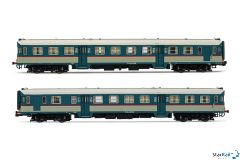 2-teiliges Set FS ALn 668 1919 + ALn 668 1095 Triebwagen IV-V