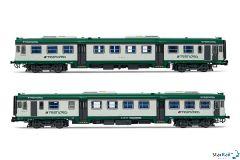 2-teiliges Set Dieseltriebwagen ALn 668 Serie 1000 der Trenord flache Stirnfenster Epoche VI Analog