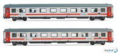 2-teiliges Set Trenitalia Reisezugwagen Gran Comfort Intercity Sun VI