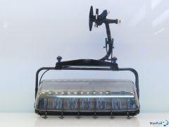 6er Sessel D-Line schwarz/blau mit Bubble