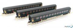 3er Set SBB RIC Personenwagen Bm 2. Klasse mit Innenbeleuchtung