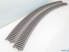 2-250 Gebogenes Gleis R790 22.5° 4 Stück