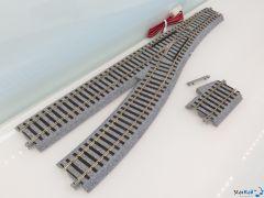 2-850 Elektrische Weiche links 246mm R550 22.5°