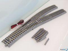 2-851 Elektrische Weiche rechts 246mm R550 22.5°