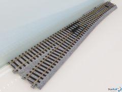 2-862 Weiche manuell links 343 mm R867-10°