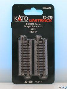 20-030 Gerades Gleis 2x 64 mm