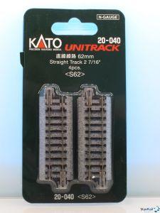 20-040 Gerades Gleis 62 mm 4 Stück