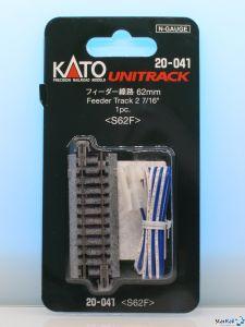 20-041 Anschlussgleis 62 mm mit Kabel