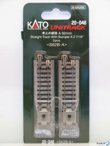 20-046 Prellbock Beton mit Gleis 62 mm 2 Stück