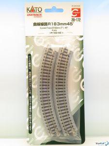 20-172 Gleis gebogen R 183-45° 4 Stück