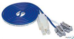 24-818 Anschlusskabel 2-polig blau-weiss