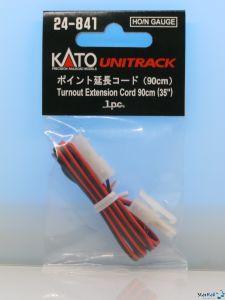 Verlängerungskabel Weiche rot-schwarz mit Stecker 90 cm