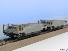 2-teiliges Set Schotterwagen Xs SBB-CFF