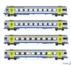 4-teiliges Set BLS RE-Zug mit EW III Omega Logo Märklin-System