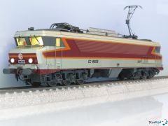SNCF CC 6503 gris métallisé, livrée Arzens, logo Beffara, 160 km/h, Märklin-System