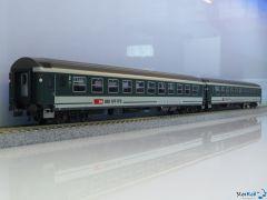 2-teiliges Set SBB Grossraumwagen UIC-X Originalfenster