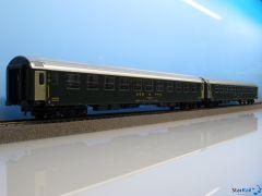 2-teiliges Set Liegewagen SBB UIC-X Bcm RIC Nachtposition