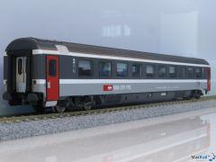 SBB 2. Klasswagen Raucher/Nichtraucher Bpm EC Epoche V