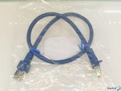 LDT 000130 Patchkabel 0.5m SF/UTP Cat.5e blau