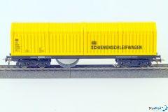H0 Schienen- und Oberleitungsschleifwagen für Märklin-Mittelleitersystem