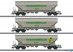 3-teiliges Set Güterwagen Getreidesilowagen TRANSCÉRÉALES
