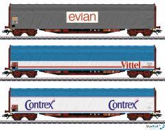 3-teiliges Set Mineralwassertransport evian Vittel Contrex