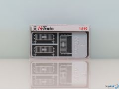 N-Train Verkehrszäune silber 6 Stück