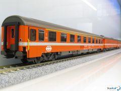 7-teiliges Set SBB EC 96 Iris Chur - Bruxelles mit Routentafeln