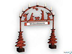 Weihnachtmarkt-Eingangsbogen