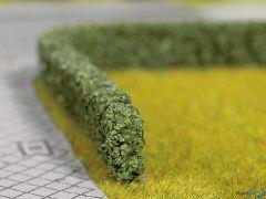 Modellhecken dunkelgrün 2 Stück 1.5 x 0.8 cm 50 cm lang