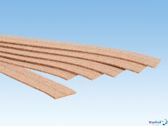 Kork-Gleisbettung 2 mm hoch 18Stück je 2,8x50cm