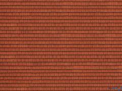 """3D Kartonplatte """"Dachziegel"""" rot"""