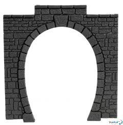 Tunnel-Portal 1-gleisig 11x11cm Kunststoff 2 Stück