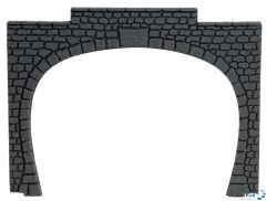 Tunnel-Portal 2-gleisig 15.5x12.5cm Kunststoff 2 Stück