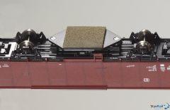 Schleifplatte für Schienenreinigungswagen