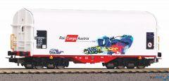 Schiebeplanenwagen Rail Cargo Austria VI mit Graffiti