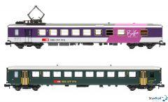 2-teiliges Set SBB Einheitswagen I 2. Klasse und Speisewagen Le Buffet Suisse