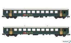 2-er Set SBB Einheitswagen I 2. Klasse