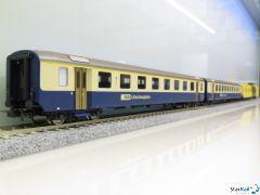3-teiliges Set SBB Chäsexpress / BLS Einheitswagen I Ep. IV-V