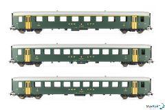 3-teiliges Set SBB Einheitswagen I Ep. IV Märklin-System