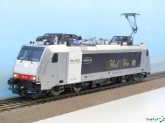Elektrolok BR 186 RAILPOOL vermietet an railCare Analog